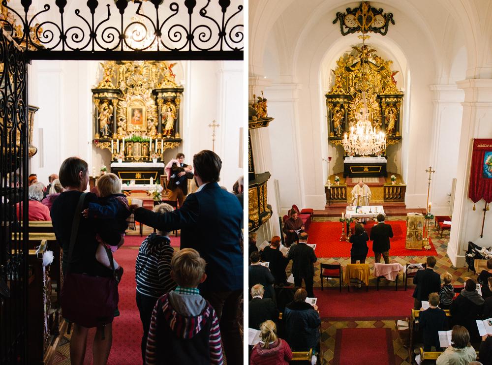 Taufe, Mondsee, Maria Hilf Kirche, Gäste
