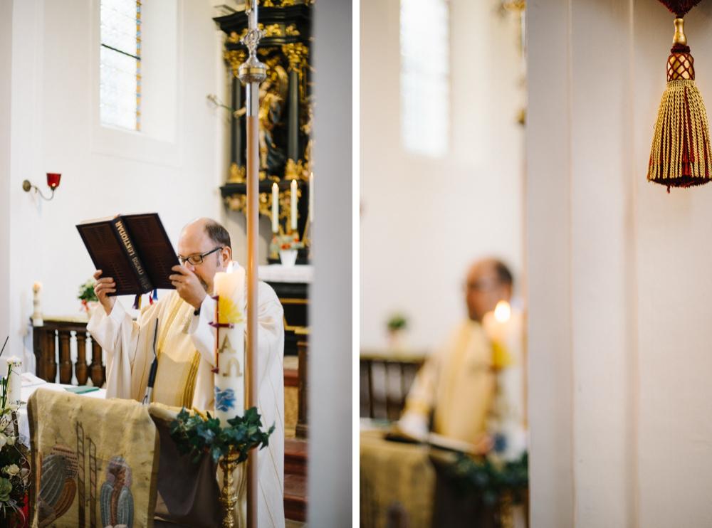 Taufe, Mondsee, Maria Hilf Kirche, Priester
